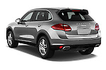 Car pictures of rear three quarter view of a 2014 Porsche Cayenne Platinum Edition 5 Door SUV Angular Rear