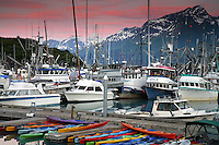 Valdez boat harbor, Valdez,  Prince William Sound,  Alaska.