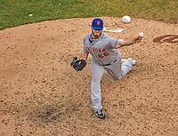 28 July 2013: New York Mets pitcher Josh Edgin on the mound against the Washington Nationals at Nationals Park in Washington, DC. The Nationals defeated the Mets 14-1. Mandatory Credit: Ed Wolfstein Photo *** RAW (NEF) Image File Available ***