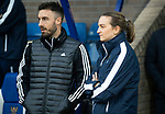 St Johnstone v Aberdeen…..24.11.19   McDiarmid Park   SPFL<br />Aberdeen physio Tony Tompos pictyred with St Johnstone physio Mel Stewart<br />Picture by Graeme Hart.<br />Copyright Perthshire Picture Agency<br />Tel: 01738 623350  Mobile: 07990 594431