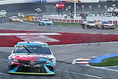 #18: Kyle Busch, Joe Gibbs Racing, Toyota Camry M&M's Hazelnut, #17: Ricky Stenhouse Jr., Roush Fenway Racing, Ford Mustang SunnyD