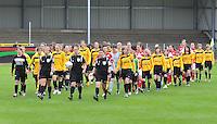 Bekerfinale 2012 : WD Lierse SK - Standard Femina :.opkomst beide ploegen voor de finale.foto David Catry / Joke Vuylsteke / Vrouwenteam.be