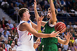 Real Madrid's player Luka Doncic and Unicaja Malaga's player Dejan Musli during match of Liga Endesa at Barclaycard Center in Madrid. September 30, Spain. 2016. (ALTERPHOTOS/BorjaB.Hojas)