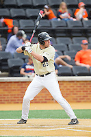 Matt Conway (25) of the Wake Forest Demon Deacons at bat against the Virginia Cavaliers at Wake Forest Baseball Park on May 17, 2014 in Winston-Salem, North Carolina.  The Demon Deacons defeated the Cavaliers 4-3.  (Brian Westerholt/Four Seam Images)