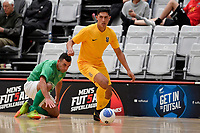 Rahan Ali of Southern during the Men's Futsal SuperLeague, Central Futsal v Southern United Futsal at ASB Sports Centre, Wellington on Saturday 31 October 2020.<br /> Copyright photo: Masanori Udagawa /  www.photosp ort.nz