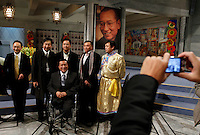Chinese dissidents have their picture taken in Oslo Town Hall. The Norwegian Nobel Committee decided to award.the Nobel Peace Prize for 2010 to Liu Xiaobo. Leader of the Norwegian Nobel Committee Thorbjørn Jagland elaborated on their decision to award the prize to Xiaobo during the ceremony in Oslo Town Hall. .Liu Xiaobo is imprisoned and no immediate family was permitted to leave China to accept the prize. ..Photo: Fredrik Naumann/Felix Features