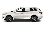 Car Driver side profile view of a 2020 Infiniti QX60 Pure 5 Door SUV Side View