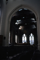 London: St. Helen Bishopsgate. The South Transept from South Nave.