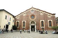 La chiesa di Santa Maria delle Grazie ed il Cenacolo Vinciano, sulla sinistra, a Milano.<br /> The church of Santa Maria delle Grazie and the Cenacolo Vinciano at left, in Milan.<br /> UPDATE IMAGES PRESS/Riccardo De Luca