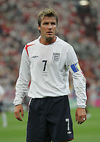 David Beckham.  Portugal defeated England on penalty kicks after playing to a 0-0 tie in regulation in their FIFA World Cup quarterfinal match at FIFA World Cup Stadium in Gelsenkirchen, Germany, July 1, 2006.