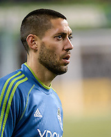 November, 2013: CenturyLink Field, Seattle, Washington:  Seattle Sounders FC forward Clint Dempsey (2) as the Portland Timbers defeat  the Seattle Sounders FC 2-1 in the Major League Soccer Playoffs semifinals Round.