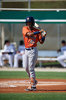 GCL Astros Franklin Pinto (21) at bat during a Gulf Coast League game against the GCL Marlins on August 8, 2019 at the Roger Dean Chevrolet Stadium Complex in Jupiter, Florida.  GCL Astros defeated GCL Marlins 4-2.  (Mike Janes/Four Seam Images)