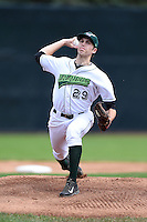 Jamestown Jammers pitcher Alex McRae (29) delivers a pitch during a game against the Mahoning Valley Scrappers on June 16, 2014 at Russell Diethrick Park in Jamestown, New York.  Mahoning Valley defeated Jamestown 2-1.  (Mike Janes/Four Seam Images)