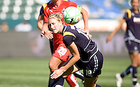 LA Sol's Martina Franko moves to the ball. The LA Sol defeated the Freedom of Washington 3-1 at Home Depot Center stadium in Carson, California on Sunday afternoon June 7, 2009.   .