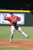 Arizona Diamondbacks shortstop Ryan Gebhardt (7) during practice before an Instructional League game against the Oakland Athletics on October 10, 2014 at Chase Field in Phoenix, Arizona.  (Mike Janes/Four Seam Images)
