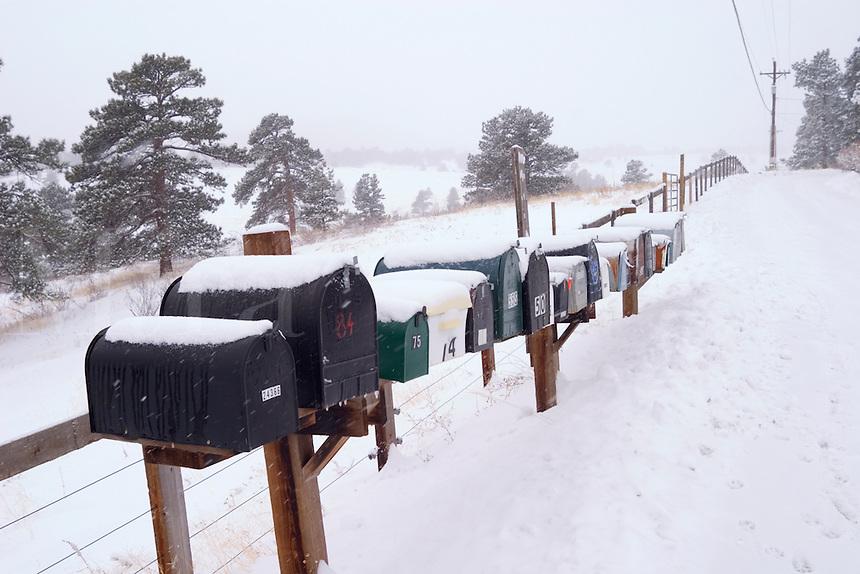 Mailboxs in rural Golden Colorado