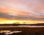 Autumn sunset in Newbury, Massachusetts, USA