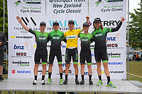 The EvoPro Racing team. Circuit of Champions, stage five of the 2019 Grassroots Trust NZ Cycle Classic UCI 2.2 Tour from Cambridge, New Zealand on Sunday, 27 January 2019. Photo: Dave Lintott / lintottphoto.co.nz