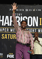 """ONTARIO - DECEMBER 20:  Thomas Hearns at  the weigh in for the December 21 fight on the Fox Sports PBC """"Harrison v Charlo"""" on December 20, 2019 in Ontario, California. (Photo by Frank Micelotta/Fox Sports/PictureGroup)"""