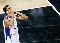 Marko KESELJ (Serbia) celebrates victory during the quarter final World championship basketball match against Spain in Istanbul, Serbia-Spain, Turkey on Wednesday, Sep. 08, 2010.(Novak Djurovic/Starsportphoto.com)