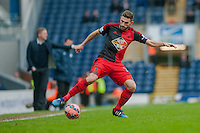 BLACKBURN, ENGLAND - JANUARY 24:  Angel Rangel of Swansea City keeps tha ball in play  during the FA Cup Fourth Round match between Blackburn Rovers and Swansea City at Ewood park on January 24, 2015 in Blackburn, England.  (Photo by Athena Pictures/Getty Images)