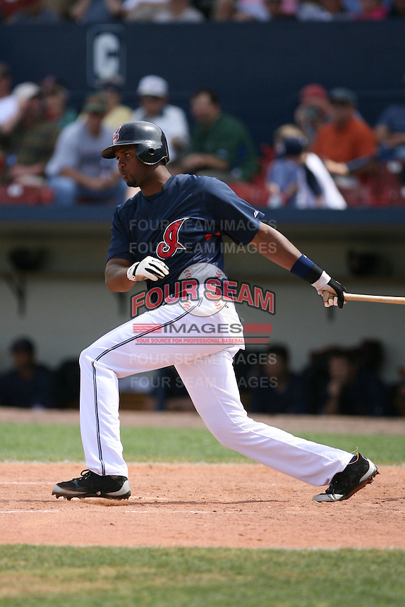March 20th 2008:  Andy Gonzalez of the Cleveland Indians during a Spring Training game at Chain of Lakes Park in Winter Haven, FL.  Photo by:  Mike Janes/Four Seam Images