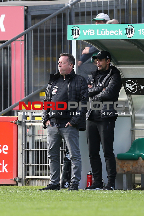 17.10.2020, Dietmar-Scholze-Stadion an der Lohmuehle, Luebeck, GER, 3. Liga, VfB Luebeck vs SG Dynamo Dresden <br /> <br /> im Bild / picture shows <br /> Trainer Markus Kauczinski (SG Dynamo Dresden) <br /> <br /> DFB REGULATIONS PROHIBIT ANY USE OF PHOTOGRAPHS AS IMAGE SEQUENCES AND/OR QUASI-VIDEO.<br /> <br /> Foto © nordphoto / Tauchnitz