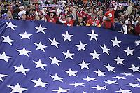 USA flag, Panama vs USA, World Cup qualifier at RFK Stadium, 2004.