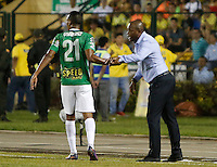 FLORIDABLANCA - COLOMBIA -09-02-2017: Atlético Bucaramanga y Atlético Nacional en partido por la fecha 2 de la Liga Águila I 2017 jugado en el estadio Álvaro Gómez Hurtado de la ciudad de Floridablanca. / Atletico Bucaramanga and Atletico Nacional in match for the date 2 of the Aguila League I 2017 played at Alvaro Gomez Hurtado stadium in Floridablanca city. Photo: VizzorImage / Duncan Bustamante / Cont