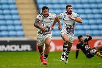 22nd November 2020; Ricoh Arena, Coventry, West Midlands, England; English Premiership Rugby, Wasps versus Bristol Bears; Alapati Leiua of Bristol sets off on a run down the wing
