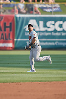 Franklin Barreto (4) of the Nashville Sounds on defense against the Salt Lake Bees at Smith's Ballpark on July 28, 2018 in Salt Lake City, Utah. The Bees defeated the Sounds 11-6. (Stephen Smith/Four Seam Images)