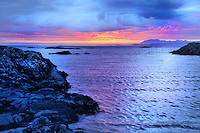 SC - Prov. Lochaber<br /> Beautiful sunset over the coastline between Arisaig and Morar (B8008)<br /> <br /> Full size: 69,2 MB