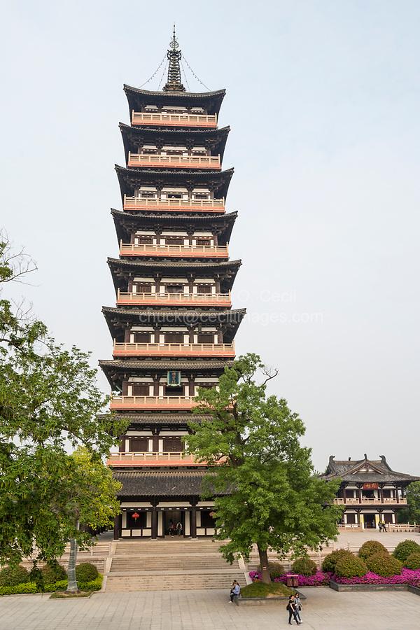 Yangzhou, Jiangsu, China.  Daming Pagoda in the Daming Temple Grounds.