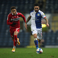Blackburn Rovers' Derrick Williams in action with  Middlesbrough's Marcus Tavernier<br /> <br /> Photographer Mick Walker/CameraSport<br /> <br /> The EFL Sky Bet Championship - Blackburn Rovers v Middlesbrough - Tuesday 3rd November 2020 - Ewood Park - Blackburn<br /> <br /> World Copyright © 2020 CameraSport. All rights reserved. 43 Linden Ave. Countesthorpe. Leicester. England. LE8 5PG - Tel: +44 (0) 116 277 4147 - admin@camerasport.com - www.camerasport.com