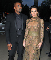 Kanye West & Kim Kardashian at the Vogue 100th anniversary gala dinner, The East Albert Lawn in Kensington Gardens, Hyde Park, London, England, UK, on Monday 23 May 2016.<br /> CAP/CAN<br /> ©CAN/Capital Pictures /MediaPunch ***NORTH AND SOUTH AMERICA ONLY***