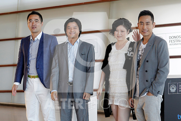(L to R) The producers Yang Jian and Chow Keung; film director Emily Tang and the actor Chen Taishen attend the photocall of 'All Apologies' during the 60th San Sebastian Donostia International Film Festival - Zinemaldia.September 23,2012.(ALTERPHOTOS/ALFAQUI/Acero)