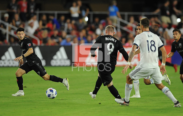 Washington, D.C. - July 14, 2018: D.C. United defeated The Vancouver Whitecaps FC 3-1 during their Major League Soccer (MLS) match at Audi Field.