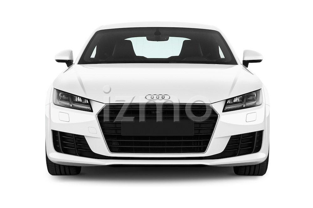 Car photography straight front view of a 2015 Audi TT Coupe S Line 3 Door Coupe Front View