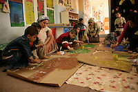 Children and teachers in a nursery in Mardin, southeastern Turkey