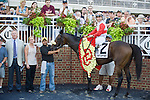 16 July 2011: Air Support and Alex Solis win the $600,000 Virginia Derby (Gr II) at Colonial Downs in New Kent, Va. Air Support is owned by Stuart S. Janney, III and trained by Claude R. McGaughey III (Susan M. Carter/Eclipse Sportswire)