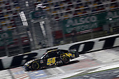 CONCORD, NORTH CAROLINA - MAY 25: Kyle Busch, driver of the #54 App State Class of 2020 Toyota, crosses the finish line to win the NASCAR Xfinity Series Alsco 300 at Charlotte Motor Speedway on May 25, 2020 in Concord, North Carolina. (Photo by Chris Graythen/Getty Images)
