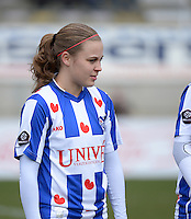 20140315 - WESTERLO , BELGIUM : Heerenveen Lianne De Vries pictured during the soccer match between the women teams of SK Lierse Dames  and SC Heerenveen Vrouwen , on the 19th matchday of the BeNeleague competition Saturday 15 March 2014 in Westerlo . PHOTO DAVID CATRY