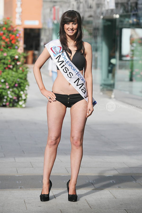 17/9/2010. Miss Ireland contestants. Miss Mayo Nicola Mc Alpine is pictured at St Stephens Green. the 35 Miss Ireland contestants officially unveiled in their swimwear and sashes for the 1st time at Stephen's Green Shopping Centre,  Dublin. Picture James Horan/Collins Photos