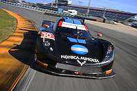 #10 Corvette DP, Ricky Taylor, Jordan Taylor, Max Angelelli, Rolex 24 at Daytona, IMSA Tudor Series, Daytona International Speedway, Daytona Beach, FL, Jan 2015.  (Photo by Brian Cleary/ www.bcpix.com )