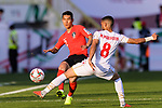 Lee Yong of South Korea (L) fights for the ball with Mohamed Jasim Marhoon of Bahrain (R) during the AFC Asian Cup UAE 2019 Round of 16 match between South Korea (KOR) and Bahrain (BHR) at Rashid Stadium on 22 January 2019 in Dubai, United Arab Emirates. Photo by Marcio Rodrigo Machado / Power Sport Images