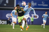 BRONX, NY - Sunday May 3, 2015: Expansion team New York City FC takes on the Seattle Sounders at home at Yankee Stadium during the MLS regular season.