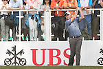 David Howell of England tees off the first hole during the 58th UBS Hong Kong Golf Open as part of the European Tour on 11 December 2016, at the Hong Kong Golf Club, Fanling, Hong Kong, China. Photo by Vivek Prakash / Power Sport Images