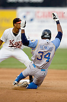 Heyward, Jason slide 1416.jpg. Carolina League Myrtle Beach Pelicans at the Frederick Keys at Harry Grove Stadium on May 13th 2009 in Frederick, Maryland. Photo by Andrew Woolley.