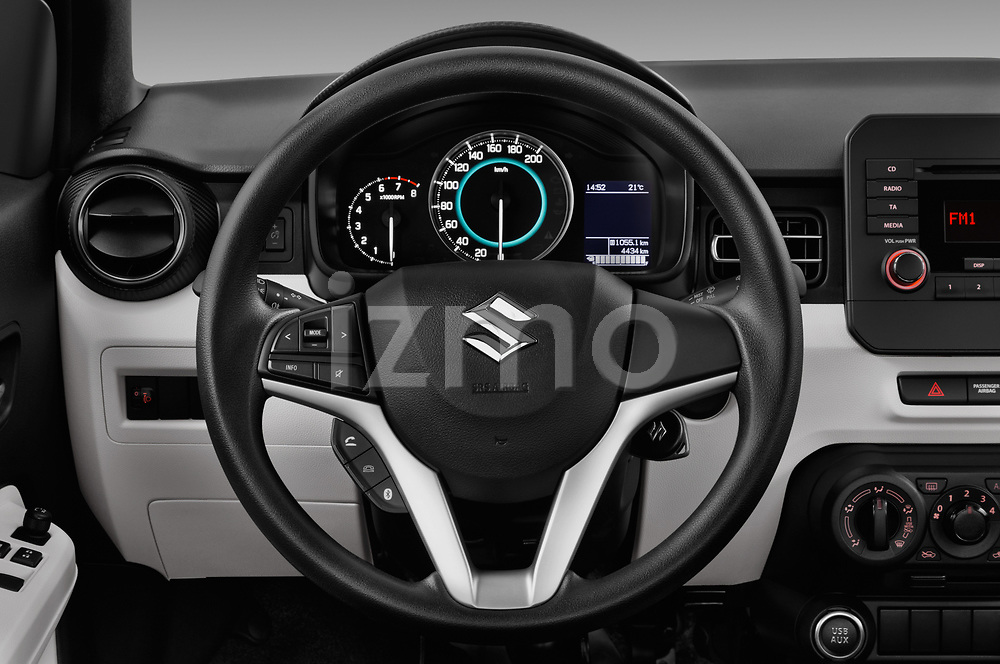 Car pictures of steering wheel view of a 2017 Suzuki Ignis GL 5 Door Hatchback Steering Wheel