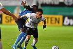 09.08.2019, BWT-Stadion am Hardtwald, Sandhausen, GER, DFB Pokal, 1. Runde, SV Sandhausen vs. Borussia Moenchengladbach, <br /> <br /> DFL REGULATIONS PROHIBIT ANY USE OF PHOTOGRAPHS AS IMAGE SEQUENCES AND/OR QUASI-VIDEO.<br /> <br /> im Bild: Denis Zakaria (#8, Borussia Moenchengladbach) gegen Leart Paqarada (#19, SV Sandhausen)<br /> <br /> Foto © nordphoto / Fabisch